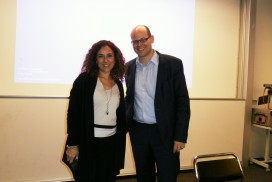 Cintia Jaime was invited at the University Basel to share the ES VICIS Foundation's experience